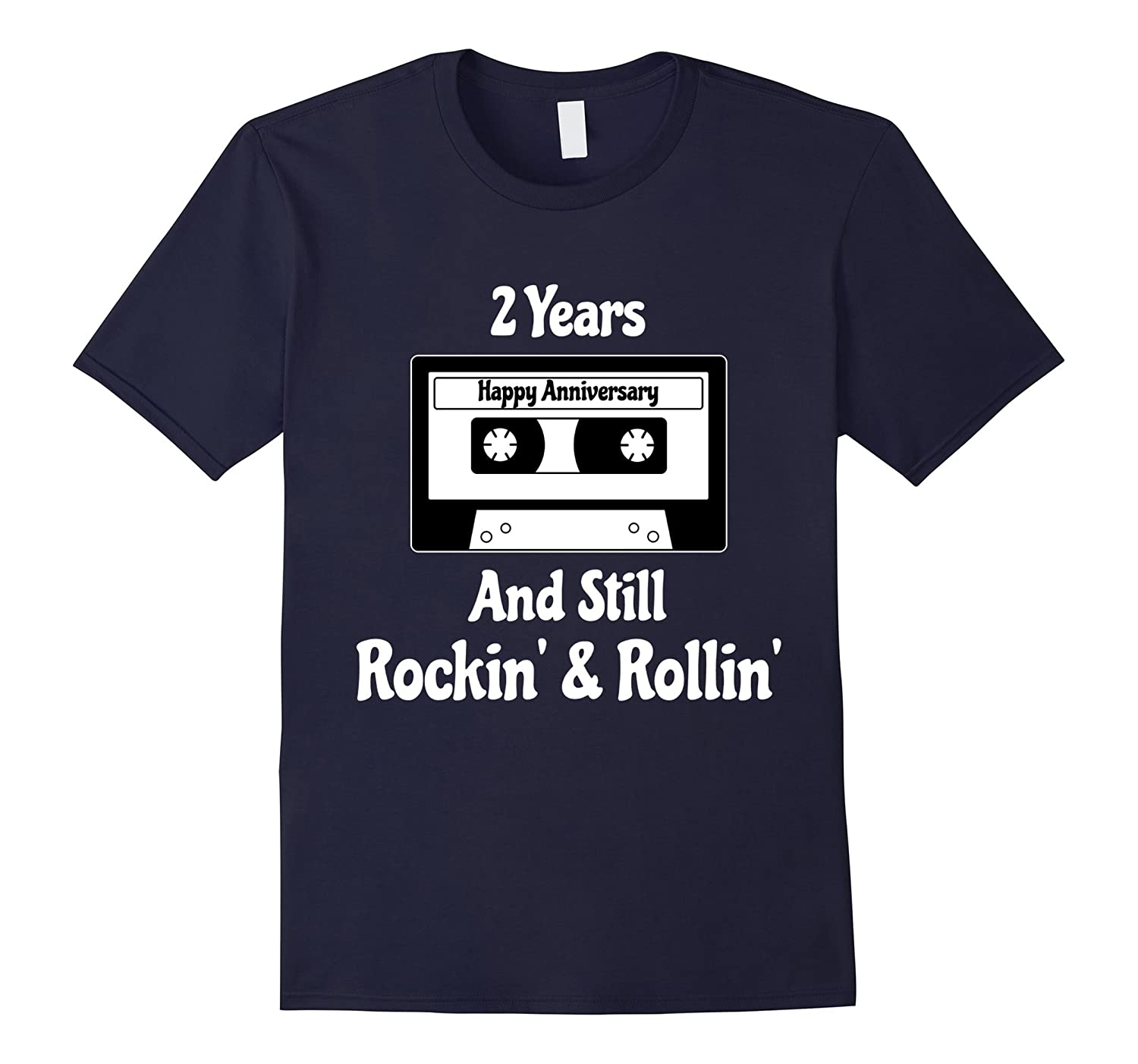 2nd Wedding Anniversary 2 Years Tshirt Cassette Tape Rock-CD