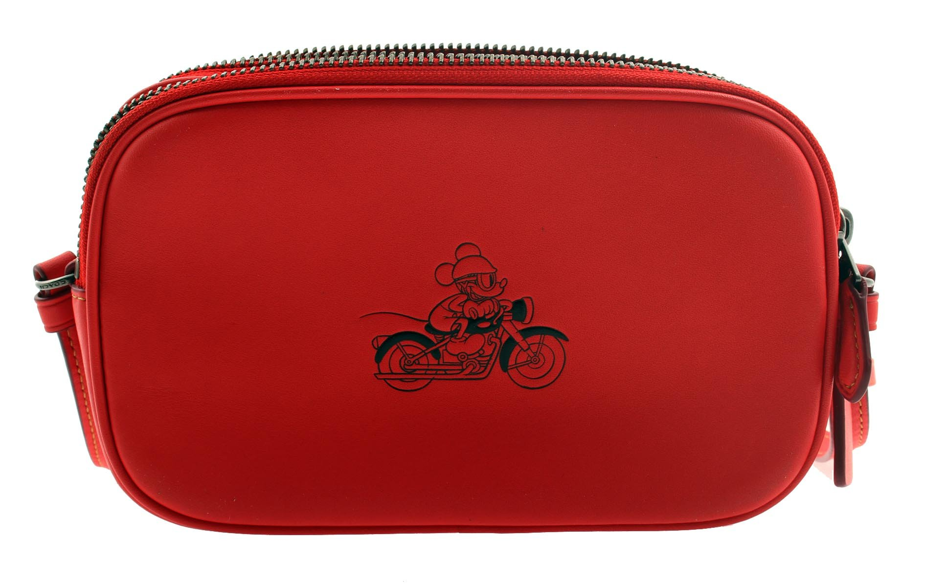 COACH MICKEY Crossbody Pouch in Glove Calf Leather (Bright Red)