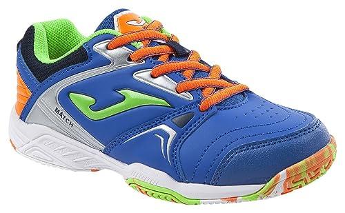 JOMA Match Jr, Zapatillas de Tenis para Niños, Azul (Royal), 34
