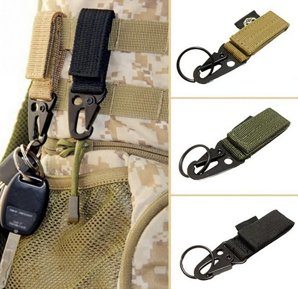 ZENDY Nylon webbing with key ring outdoor equipment tool carabiner key aluminum D-Shaped locking assorted colors