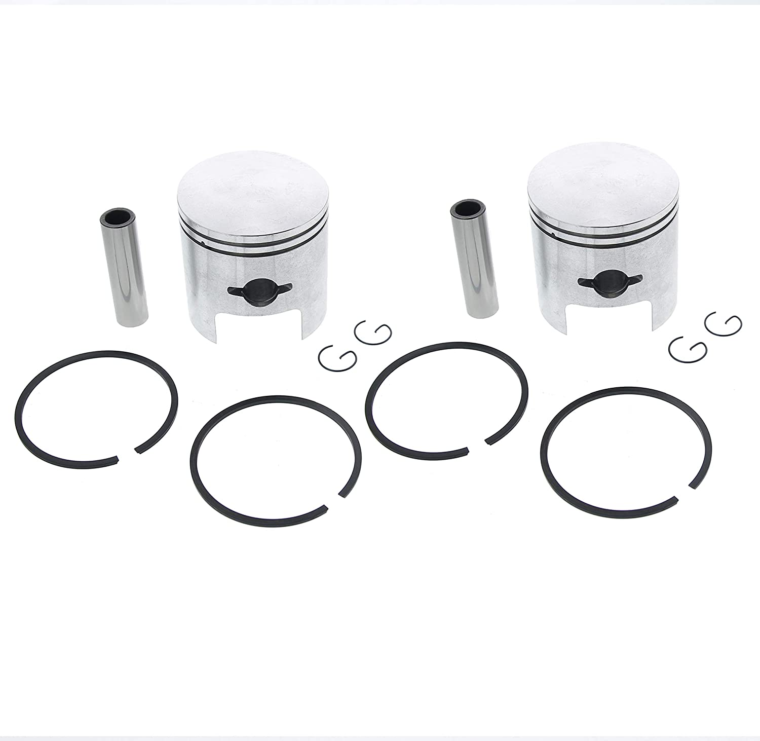 Piston Kit fits Arctic Cat Puma 440 1972 1973 Snowmobile by Race-Driven x2