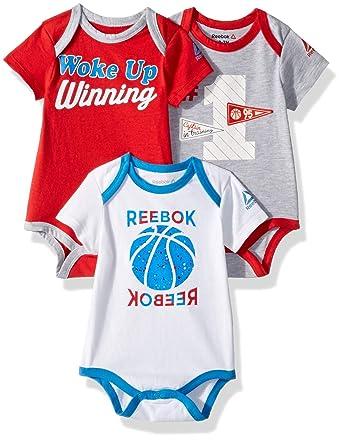 616eb91be2c3e Reebok Baby Boys 3 Piece Basketball Star Creeper Pack