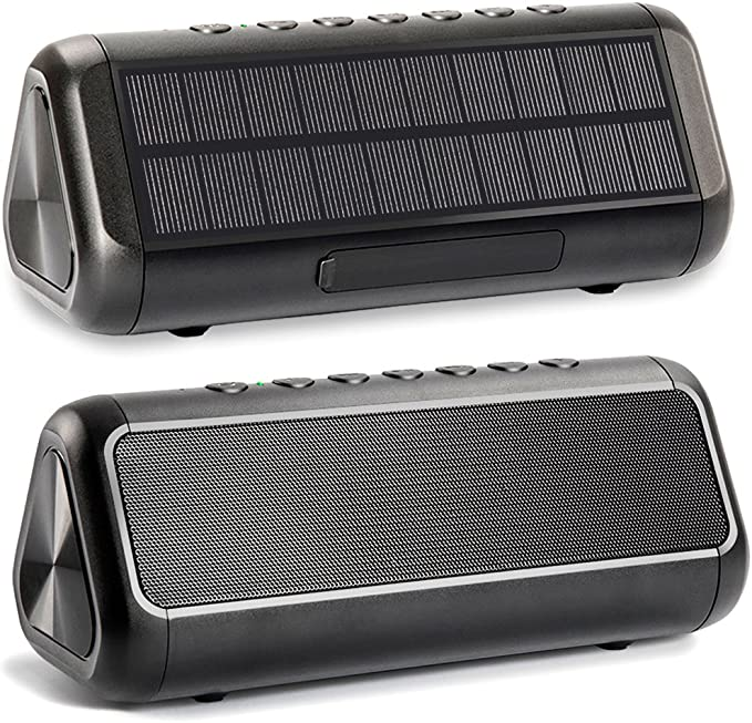 Friengood Solar Bluetooth Speaker 10W, IPX10 Waterproof Portable Wireless  Speaker with 100+ Hours Playtime, Bluetooth 10.10 Speaker Built-in 10000mAh  Power