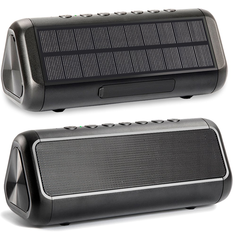 Solar Bluetooth Speaker, Friengood Ipx6 Waterproof Portable