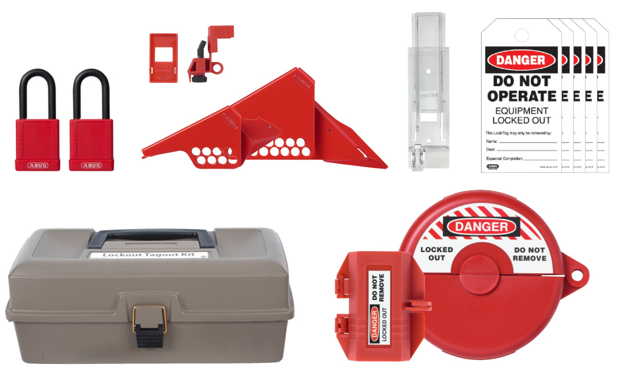 ABUS K935 Safety Lockout Tagout Combination Toolbox Kit