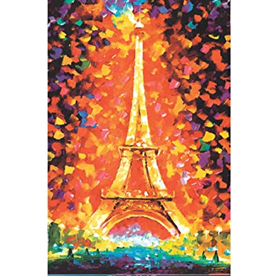 1000 Pieces Large Jigsaw Puzzles for Adults, Colorful Eiffel Tower Landscape Difficult Puzzle Art for Men and Women: Arts, Crafts & Sewing