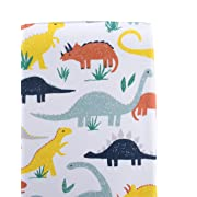 Organic Cotton Muslin Changing Pad Table Cover Liner (100% GOTS) by Captain Silly Pants: Soft & Comfortable, Hypoallergenic Topper for Babies & Toddlers, Cute Designs, Boys & Girls, Dinosaur