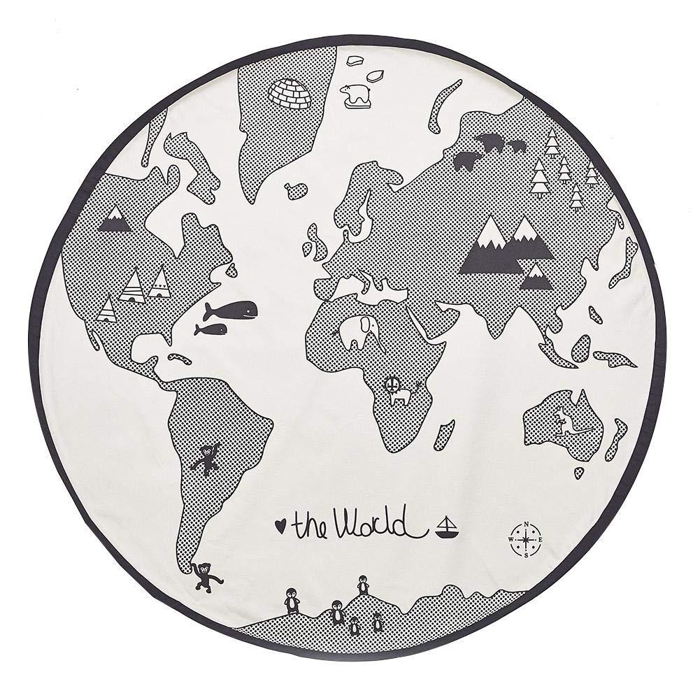 53 pouces Adventure World Map Tapis Tapis rampants Couverture de jeu Tapis de sol Amusant Tapis de jeu Tapis rond pour b/éb/é pour enfants tremendous excellently tomation HELING Tapis de jeu pour b/éb/é
