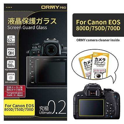 ORMY 0.2mm Protector de pantalla para cámara para Canon EOS 800D ...