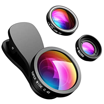 separation shoes c3189 e6b1b VicTsing Phone Lens, 【2 Clips】3 in 1 Fisheye Lens, 10X Macro Lens + 180  Degree Fisheye Lens + 0.4X Wide Angle Lens, Cell Phone Lens Camera Lens ...