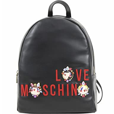 aedb06d257 Amazon.com | LOVE Moschino Women's Charming Girls Backpack Black ...