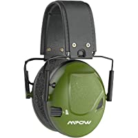 Mpow Shooting Ear Protection, Professional Electronic Shooting Earmuffs with Sound Amplification and Suppression, 22dB NRR Noise Reduction Ear muffs for Shooting, Hunting, Construction, Mowing