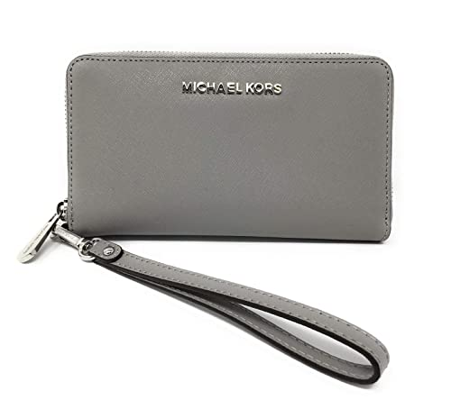 6afc657d915b6b Michael Kors Women's Jet Set Travel Large Smartphone Wristlet (Ash Grey)