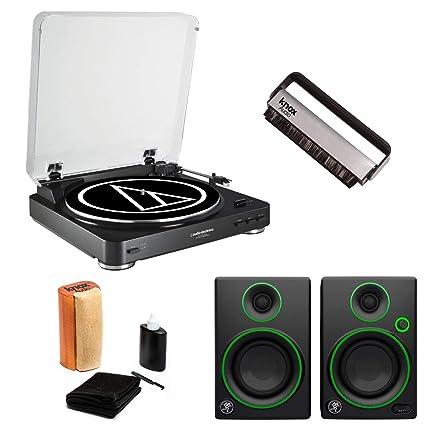 Amazon com: Audio-Technica AT-LP60 Black USB Turntable with