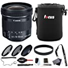 Canon EF-S 10-18mm f/4.5-5.6 is STM Lens with Filter Accessory Bundle