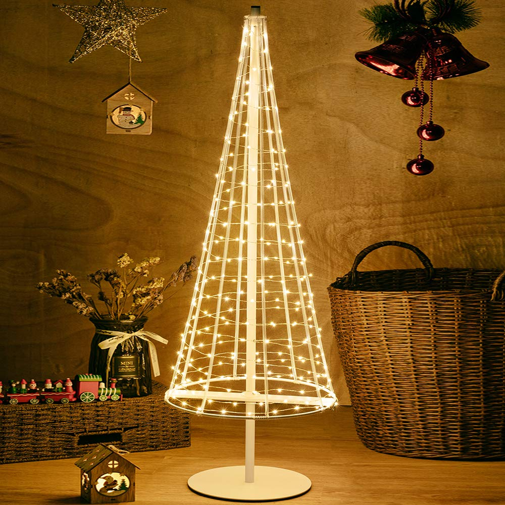 HONESTY 3.3FT Metal Tree Foldable,Home,Festival,Party,Wedding,Indoor and Outdoor Use,Warm White