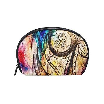 coosun dibujo de adorno arte neceser de maquillaje de embrague bolsa de maquillaje organizador viaje Case Pouch para Toiletry pequeño, ...