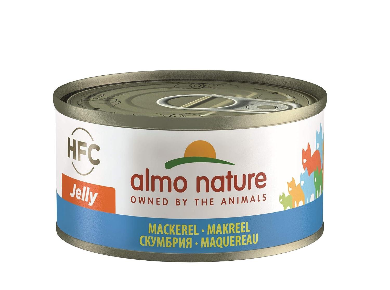 Almo nature HFC Jelly - Comida para gatos con mackerel (24 x 70 g, lata de 24 x 70 g): Amazon.es: Productos para mascotas