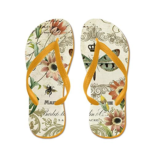 1d23a27659402 Image Unavailable. Image not available for. Color  CafePress - Modern  Vintage French Dragonfly - Flip Flops