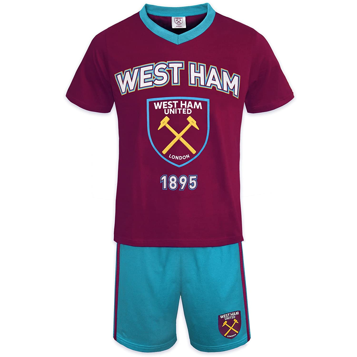 West Ham United Football Club Official Soccer Gift Boys Short Pajamas