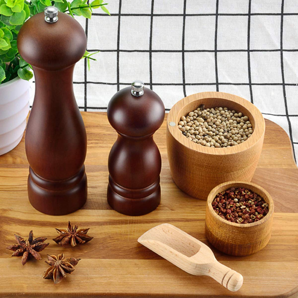 Pepper Mill Salt And Pepper Grinder With Adjustable Coarseness By Ceramic Rotor 8inch Kitchen Dining Cjp Org In