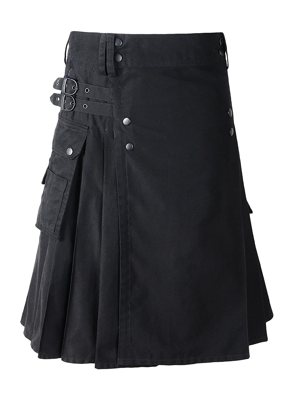 Scottish Cotton Kilt Deluxe Tartan Goth Outdoor Utility Kilts Highland Skirt