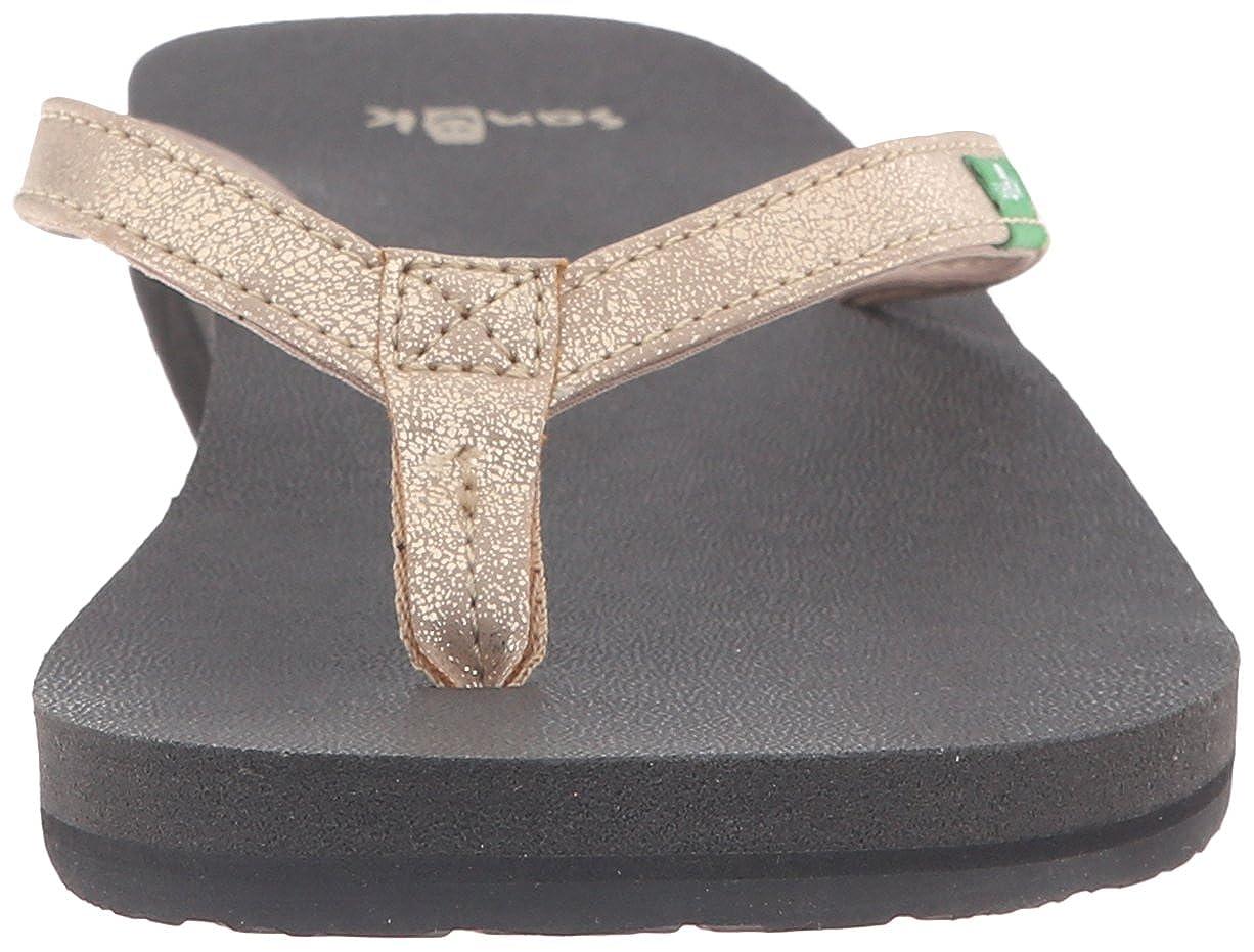 Sanuk Damens's Yoga Metallic Joy Metallic Yoga Flip-Flop Champagne 530177