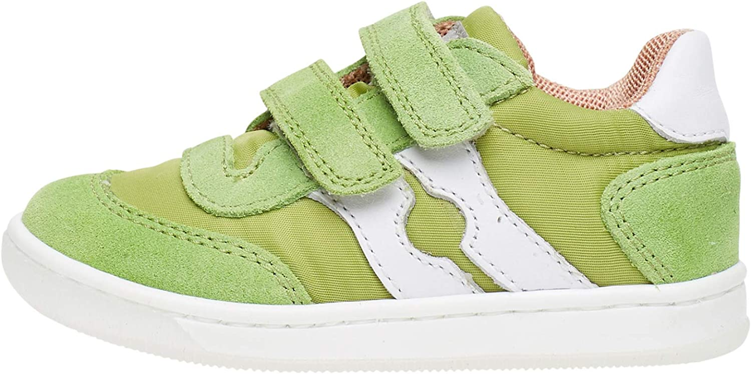 Falcotto ABIR VL-Sneaker in Technical Fabric and Suede-Green