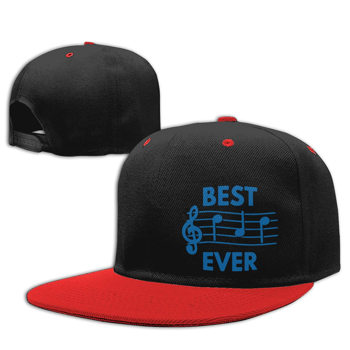 NMG-01 Men and Women Dad Hat Best Dad Ever Music Notes Adjustable Flat Peaked Baseball Caps