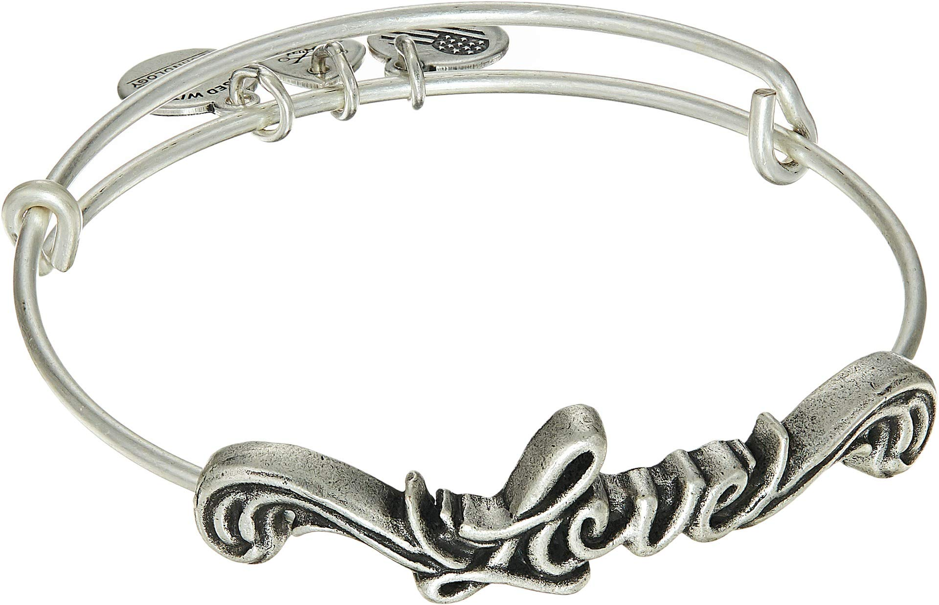 Alex and Ani Women's Spiritual Armor Love Bangle Rafaelian Silver One Size by Alex and Ani (Image #1)