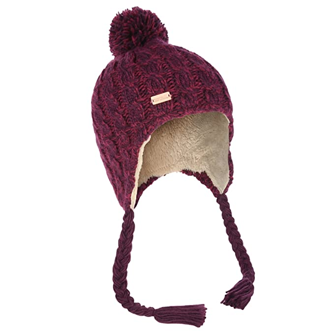 fc108546064792 Regatta Great Outdoors Womens/Ladies Whirlwind Knitted Peru Hat (One Size)  (Gold Cumin) at Amazon Women's Clothing store: