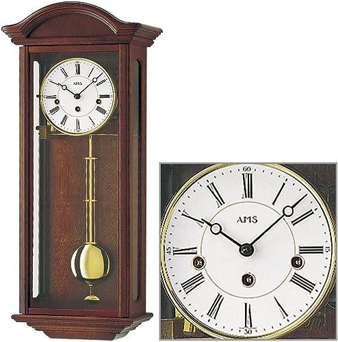 AMS Uhrenfabrik Clock, 64 x 12 x 32 cm, Silver