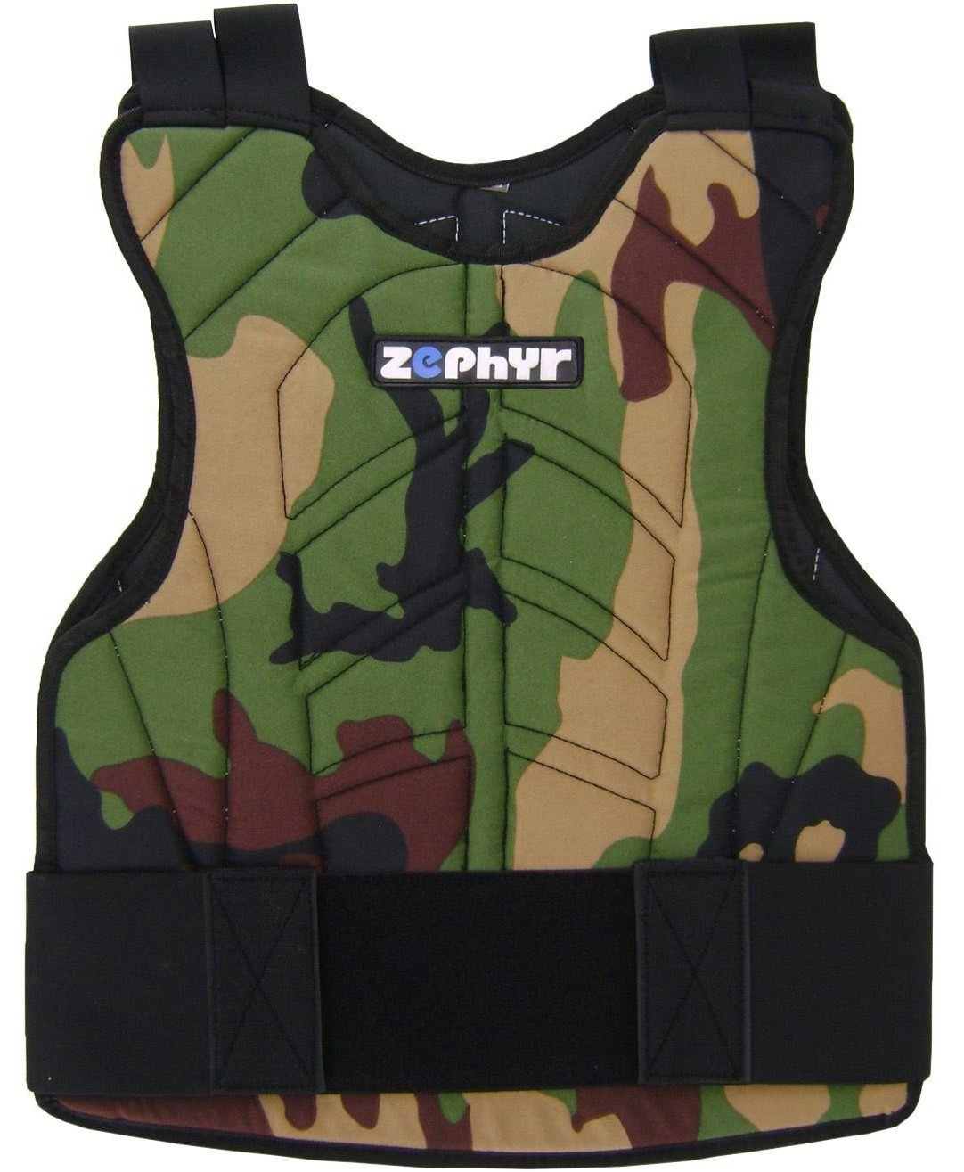 Zephyr Sports Padded Chest Protector - Reversible Woodland Camo by Zephyr Tactical