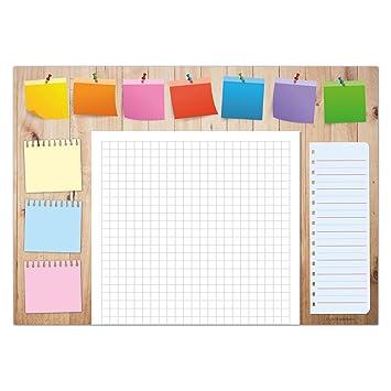 edelkern Schreibtischunterlage aus Papier für Kinder & Erwachsene | Ideal als Notizblock, Organizer, Wochenplaner & Tagesplan