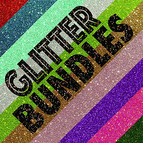 (Siser Brand Heat Transfer Vinyl - Glitter Bundles of 6 (All Glitters: Neon Blue, Neon Grapefruit, Neon Green, Neon Orange, Neon Pink, Neon Purple, Neon Yellow, Choose 6 of 7)