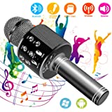 Suntop Micrófono Karaoke Bluetooth, Micrófono Inalámbrico Bluetooth, Bluetooth Altavoz, Micrófono Karaoke Portátil para KTV, Micrófono Wireless Bluetooth Compatibile con PC/iPad/iPhone