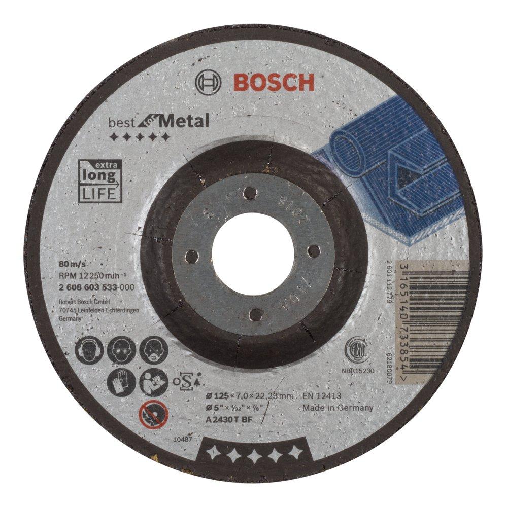 KG Bosch 2608603533 Grinding Disc For Metal Cranked 4.92inx7mm C /& J Direct GmbH /& Co