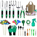 49 Pcs Garden Tools Set, Extra Succulent Tools Set, Heavy Duty Gardening Tools Aluminum with Soft Rubberized Non-Slip…