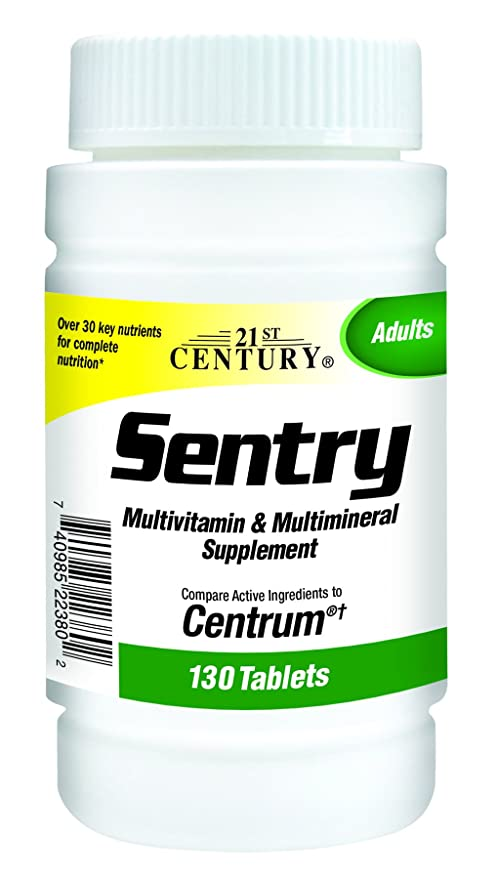 21st Century Health Care, Sentry, Multivitaminas y Multimineral, x130tabs
