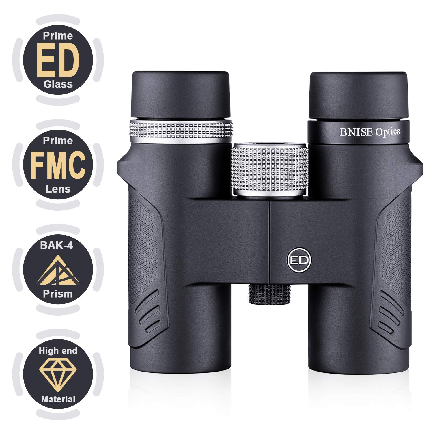 BNISE 8×32 ED Binoculars for Adults and Kids, Compact and Lightweight Design, with BAK-4 Prism and Fully Broadband Multi-Coated Lens, Suitable for Bird Watching, Hunting and Stargazing