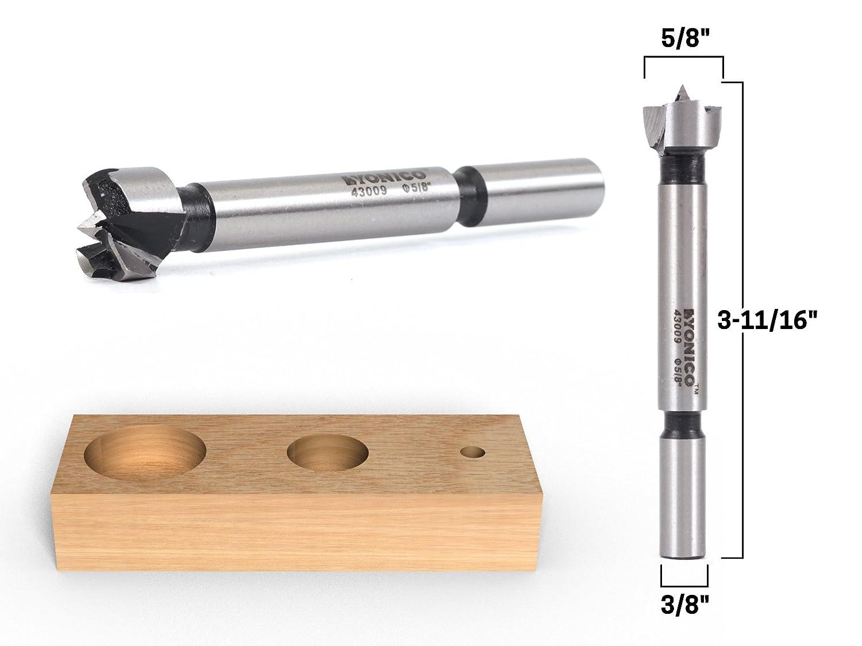 Yonico 43017S 1-1//8-Inch Diameter Steel Forstner Drill Bit 3//8-Inch Shank