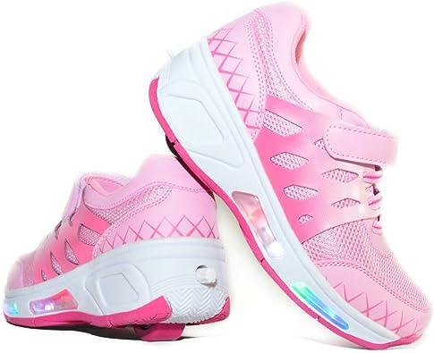 Envio 24H Usay like Zapatillas con Ruedas Color Rosa Pink para Niña Chica Talla 30 hasta 38 Envio Desde España (EU32): Amazon.es: Zapatos y complementos