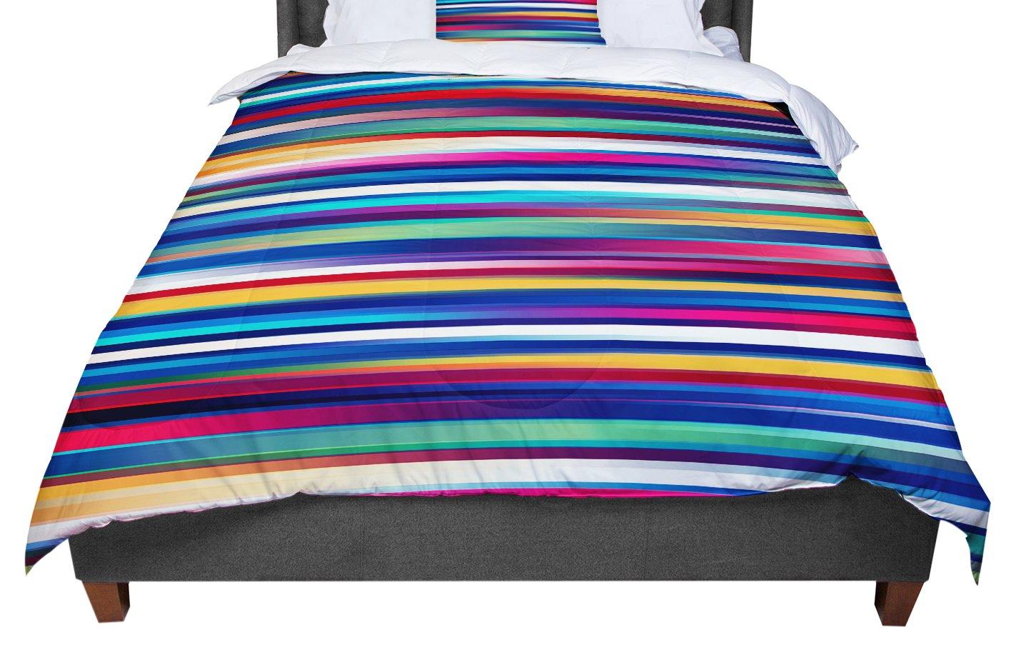 KESS InHouse Danny Ivan 'Blurry Lines' Multicolor King / Cal King Comforter, 104' X 88'