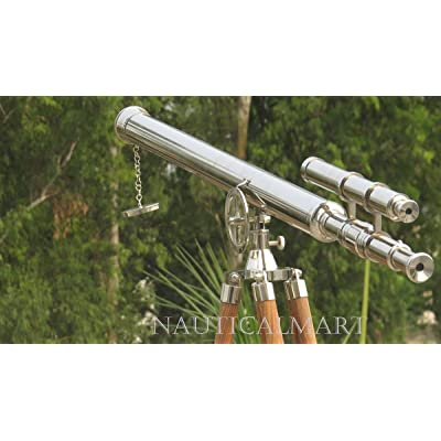 "NAUTICALMART NM010888 Floor Standing Chrome Finish Griffith Astro Telescope 65"": Camera & Photo"