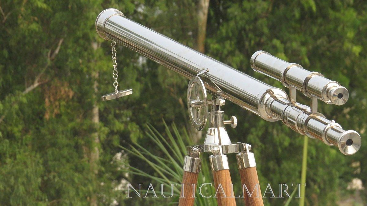 NAUTICALMART NM010888 Floor Standing Chrome Finish Griffith Astro Telescope 65'' by NAUTICALMART