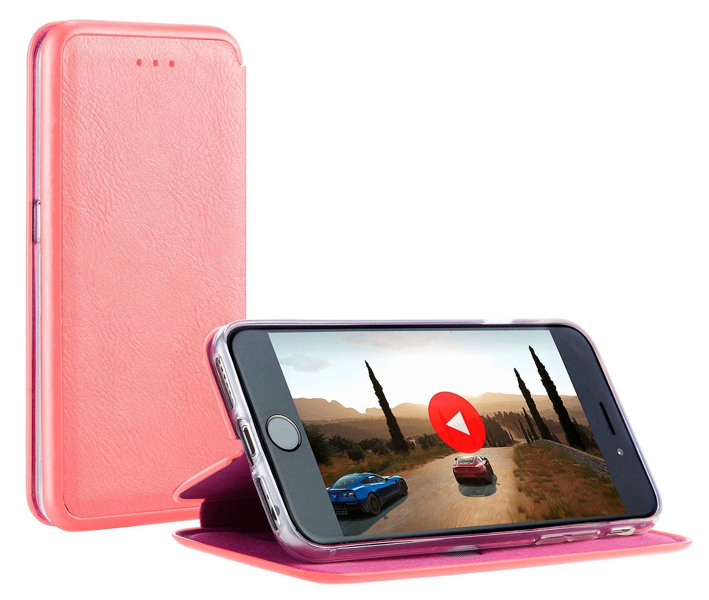 MyGadget Funda Flip con Tapa para Apple iPhone 7/8 en Cuero ...