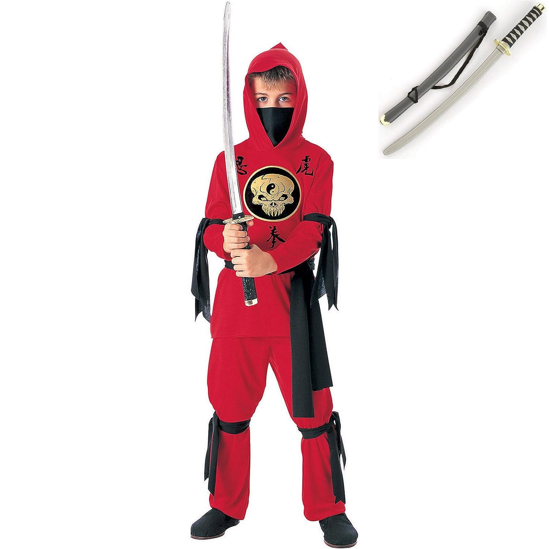 Red Ninja Kids Costume - Large