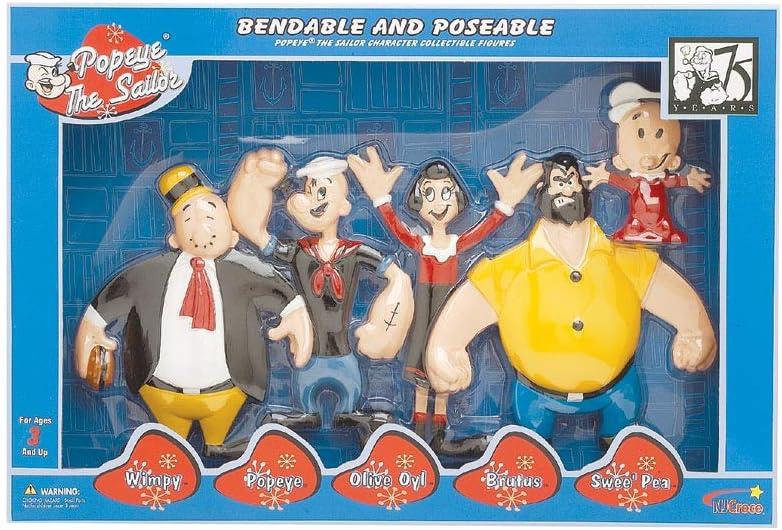 N.J. Croce Company Popeye Figuras de colección Flexibles y de ...