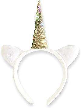 Kinder Mädchen Rainbow Einhorn Haarreifen Party Glitzer Accessoires Haarschmuck