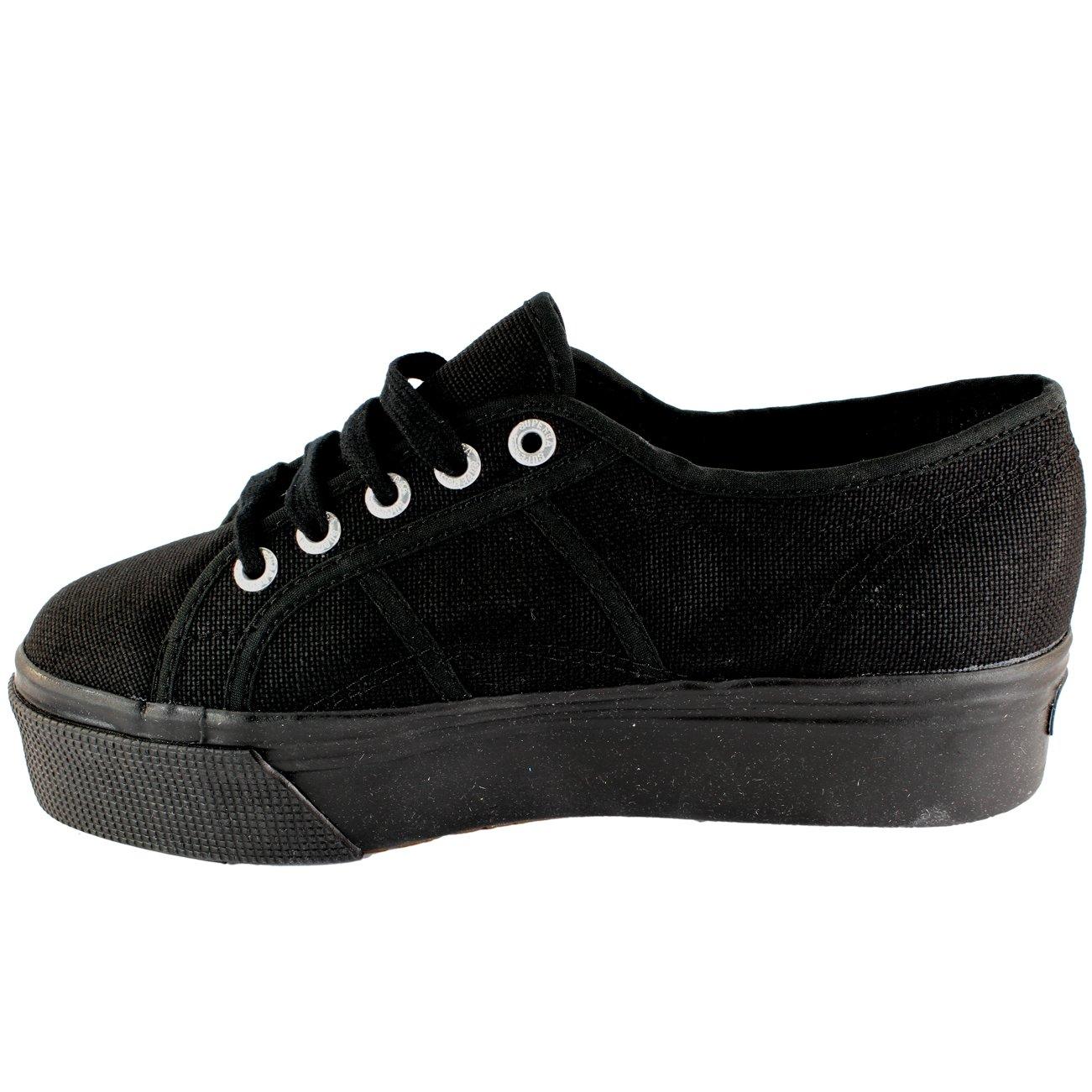 Damen Schuhe Superga 2790 Leinwand Leinwand Leinwand Klobig Sole Plimsoll Trainers 792ce7